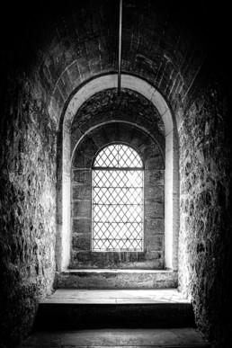 Window 4 - St Paul's Cathedral Londen - B&W ©DianaVanNeck